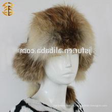 2015 Moda e nobres e de alta qualidade, novo inverno, Rússia, estilo, Real, raposa, animal, orelhas, longo, pele, chapéu de pele
