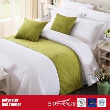 Coureur de lit d'hôtel de tissu de polyester de décoration