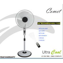 Artículos más nuevos de 16 '' ventilador recargable con poder de bobinado fuerte