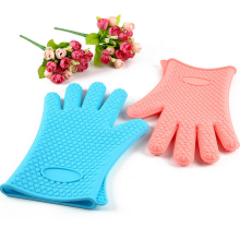 Food grade silicone cooking gloves silicone bbq gloves