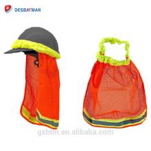 Hi-vis Segurança Capacete Pescoço Máscara Protetor Solar, Alta Visibilidade Reflective Stripe Construção Segurança Capacete Sombra