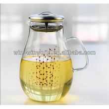 Pote De Vidro De água De Refrigeração Com Filtro De Aço Inoxidável