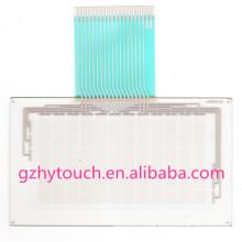Alta sensibilidade impermeável 6,6 polegadas resistiva tela sensível ao toque digital para omron NT20