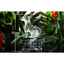 Лучшие K9 прозрачный Кристалл животное модель собака фигурки (KS03057)