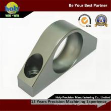 Kundenspezifische CNC, die Aluminiumteile hinterer Lagerblock CNC maschinell bearbeitet, mahlt Teile