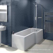 Acrilico P baño de ducha fuerte con vidrio fácil para empapar