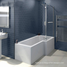 Акриловая острая душевая ванна со стеклом, легкая для впитывания