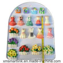 Handliches Skulptur Polyresin Kleid und Taschen Refridgerator Magnet