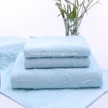 3 Piece Bamboo Towel Set Light Blue