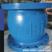 RF Flange Ends Cast Iron Axial Flow Check Valve