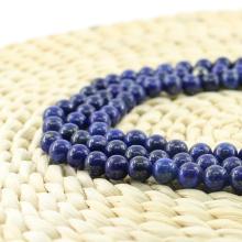 L-0059 Elegante lapislázuli redondo liso granos de piedras preciosas naturales al por mayor
