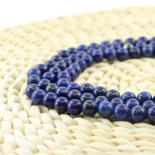 L-0059 Stylish Lapis Lazuli Smooth Round Natural Gemstone Beads Wholesale