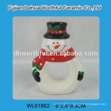 2016 novos anéis cerâmicos de guardanapo de boneco de neve