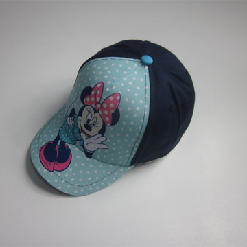 Cute Mickey House Print Kids Sports Cap