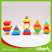 Vorschulkinder Pädagogische Plastikblöcke Spielzeug LE.PD.013
