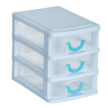 PP plastic 3 layer mini drawer desktop storage box with high quality