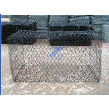 2X1X1m 8X10cm Aperture Hexagonal Wire Mesh Gabion Cages