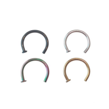 18 Jauge Nose Ring Hoops 8mm 5/16 en noir, or, argent et arc-en-ciel
