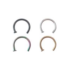 18 anéis de anel de medidor de calibre 8 mm 5/16 em preto, ouro, prata e arco-íris