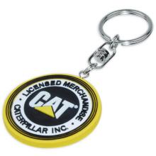 Porte-clés de PVC en caoutchouc promotionnel avec couleur assortie (XS-KCP009)