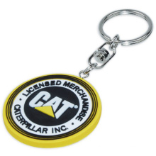Promotional Rubber PVC Keyrings with Matched Color (XS-KCP009)