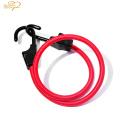 Venta caliente fuerte poliéster elástico equipaje cuerda cuerda gancho de plástico gancho de metal