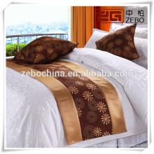 Verschiedene Arten-Qualitäts-Großhandelshotel-Dekoration-Bett-Läufer-Fabrik