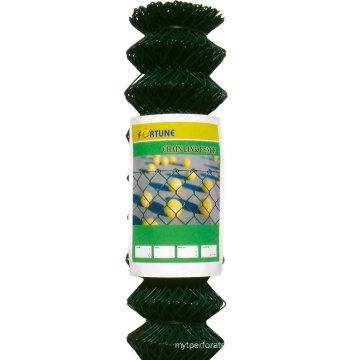 Cerca do elo de corrente galvanizada ou PVC revestido