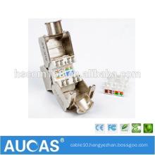 AUCAS CAT5E FTP Zinc Alloy network module / shielded keystone jack module