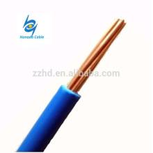 Conductor eléctrico de cobre estándar de 600v tipo cable eléctrico de TW