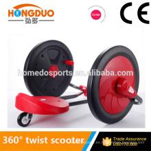 Alta tecnología de color rojo 360 torcer scooter