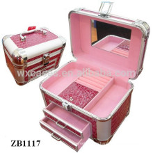 New arrival aluminum jewelry box with 2 drawers