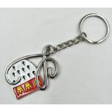 Porte-clés émaillé en métal moulé à découper