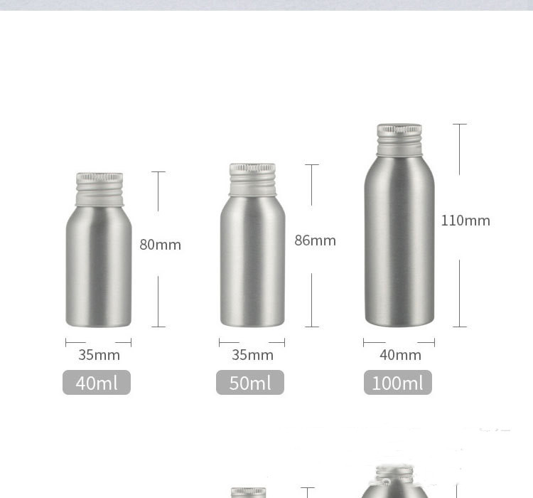 Aluminum bottle cosmetic bottle with aluminum cap screw (6)