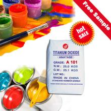 Dióxido de Titanio Anatase A101 Tintes de pigmento de alto blanco Fórmula Química