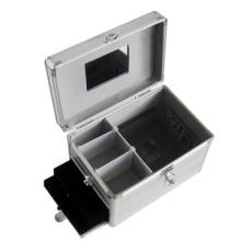 Aluminum Cosmetic Makeup Case with Lock and Handle