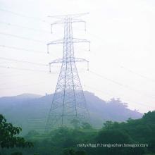Ligne de transmission de puissance à double circuit 220kv Steel Tower