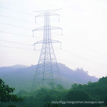 220kv Double Circuit Power Transmission Line Steel Tower