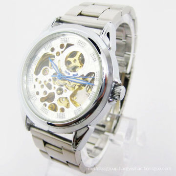 Stainless Steel Watch, Automatic Hollow out Watch Ja-15152