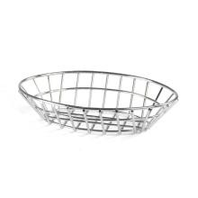 Ovales Brotkorbset aus Edelstahldraht für die Küche