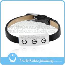 pulseira de couro feito à mão moda cremação lembrança jóias