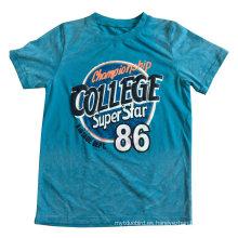 Camiseta de los niños del bebé que se lava 3D en la ropa de los niños con calidad del algodón Sqt-614