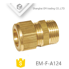 EM-F-A124 coupling Male thread brass quick cooper pipe connector