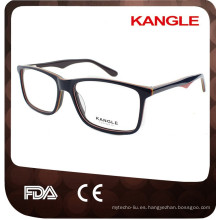 2017 hombres último diseño hecho a mano acetato gafas ópticas y anteojos eyewear