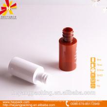 30ml garrafa de plástico de luxo vermelho e branco