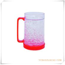 Tasse de bière glacée à double paroi Tasse de bière glacée pour cadeaux promotionnels (HA09080)