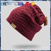 Principales productos de diseño simple personalizado sombrero de punto de la señora 2016