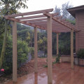 WPC Garden Pergola for Private House (120X120MM)
