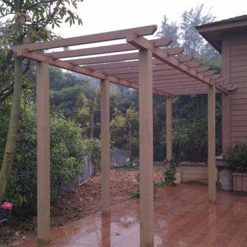 Pergola de WPC jardim para casa privada (120X120MM)