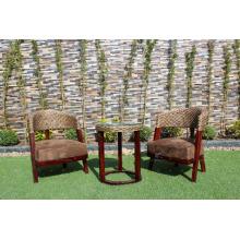 Design d'intérieur de classe supérieure Ensemble de thé à café en jacinthe d'eau pour meubles en osier naturels intérieurs